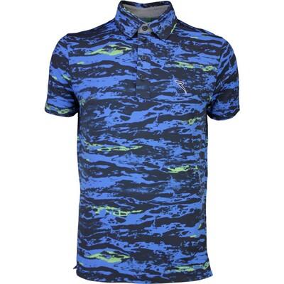 Cherv242 Golf Shirt ASTEMIO Blue Camo SS16
