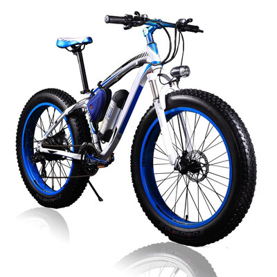 Electric Fat Bike 36V 350W Lithium Blue