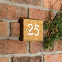 2 Digit Solid Oak Wood House Number