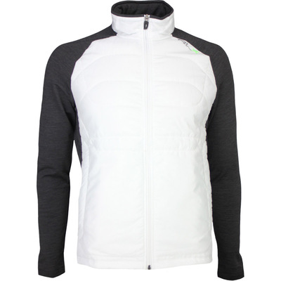 RLX Golf Jacket - Quilted Coolwool - Pure White - Onyx Heather SS17