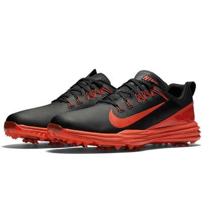Nike Golf Shoes - Lunar Command 2 - Black - Max Orange 2017