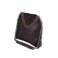 Stella Style Metallic Faux Suede Mini Tote Bag - Black