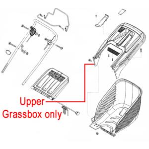 Al Ko Lawnmower Grassbag Upper Box 46346640