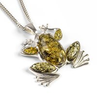 amber-silver-frog-pendant-with-silver-chain-ch4035