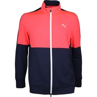 Puma Golf Jumper - PWRWARM Track Jacket - Fiery Coral AW17
