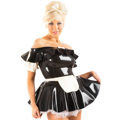 Latex Rubber Parisian Maid Accessory Set Dress Not Included