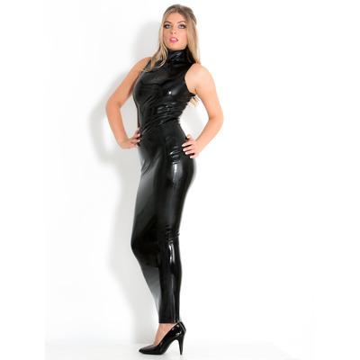 Black Latex Hobble Dress