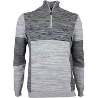 Hugo Boss Golf Jumper - Zadok Pro - Grey Melange FA17