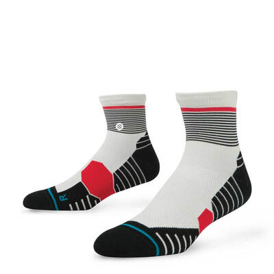 Stance Golf Socks Degree QTR Black Red 2017