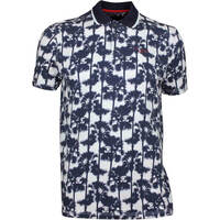 Ted Baker Golf Shirt - Golfed Tropical Print Polo - White AW17