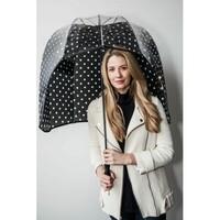 Rainshader Black Polkadot Panoramic Umbrella