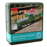 Gift in a Tin - Great Railway Express Train Set with Station