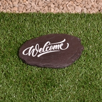 Welcome Sign - Hand Crafted Welsh Slate Stone