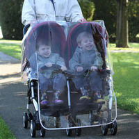 Diono Double Stroller Universal Raincover with Carry Case