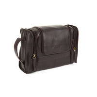 Woodland Leathers Columbian Cow Brown Leather Wash Bag