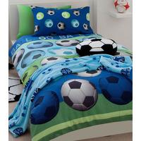 Catherine Lansfield Kids Football Single Duvet Set Blue