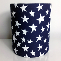 Navy with White Stars, Fabric Light / Pendant Ceiling Shade