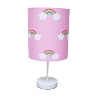 Pink Rainbow Fabric Lampshade