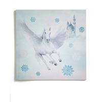 Fairytale Unicorn Glitter Canvas, 48 cm square