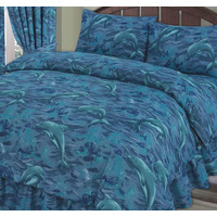 Blue Dolphins Single Bedding