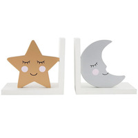 Moon and Star Book Ends