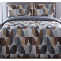 Abstract, Geometric Single Bedding - Charcoal
