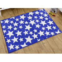 Blue and White Stars Rug 100 x 150 cm