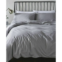 Catherine Lansfield Minimalist Easy Care Single Duvet Set Grey