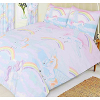 Unicorn and Clouds King Size Bedding