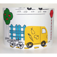 Yellow Van, Transport Large Fabric Light Shade