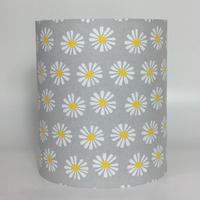 Yellow Daisies, Grey Background Medium Fabric Light Shade