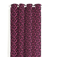 Catherine Lansfield Neon Football Easy Care Eyelet Curtains Pink, 66 x 72 Inch