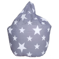 Grey and White Stars, Kids Bean Bag