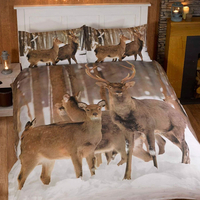 Winter Stag King Size Bedding