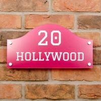 Glitter Bridge Shaped House Sign