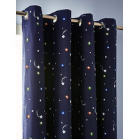 Catherine Lansfield Happy Space Easy Care Curtains 66x72 inch Navy
