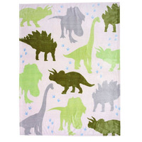 Dinosaur, Printed Fleece Blanket
