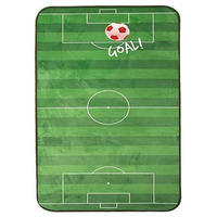 Football Pitch Velvet Soft Rug - Red 110 x 60 cm
