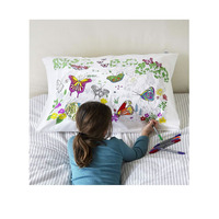 Doodle Butterfly Pillowcase - 100% Cotton