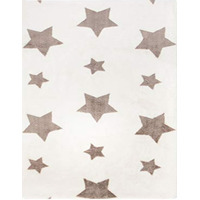 Sherbet White Twinkle Star Super Soft Rug 90 x 150 cm