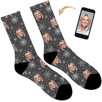Snowflake Design Personalised Socks