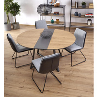 Camilla Golden Oak Round Extending Dining Table 118cm-148cm