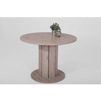 Alana 100cm Round Oak Wooden Dining Table