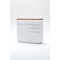 Ramon 120cm White And Oak Narrow Sideboard