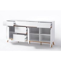 Cheryl 193cm White And Oak Sideboard