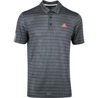 adidas Golf Shirt - Collection Ø Jacquard Stripe Polo - Black SS20