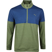 PUMA Golf Pullover - Warm Up QZ - Deep Lichen Green SS20