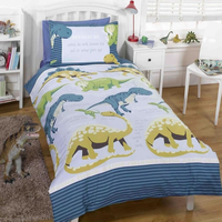Dinosaur Facts Toddler Bedding - Blue
