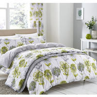 Catherine Lansfield Banbury Floral Easy Care Duvet Set Green