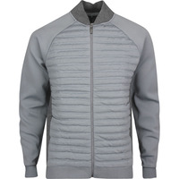 adidas Golf Jacket - adiPure Quilted Hybrid - Grey Htr SS20